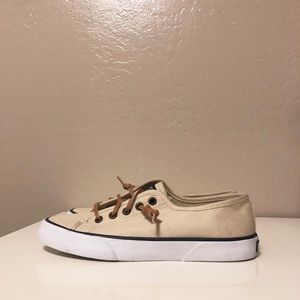 Sperry Shoes - Sperry Topsider Pier View Sneakers Beige 5.5